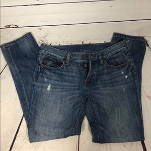 Loft button fly cropped jeans